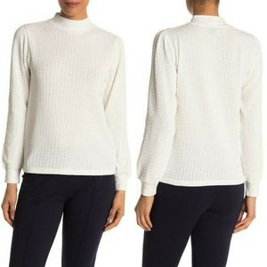 J. Crew Textured Mock Neck Sweater